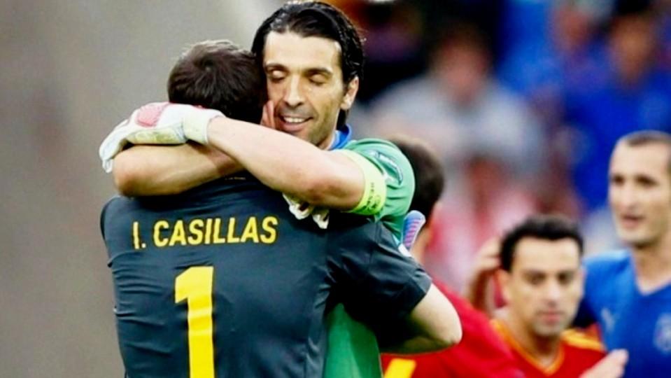 Hoje há Itália-Espanha… e não há Buffon frente a Casillas
