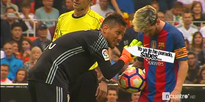 O que disse Diego Alves a Messi, no último penalty? (video)