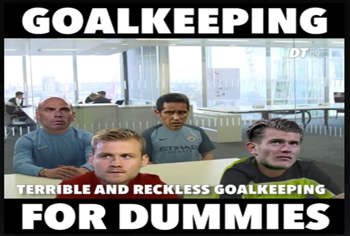 E se juntassem os guarda-redes do City e Liverpool… em paródia? (video)