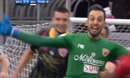 Benevento tem primeiro ponto na liga… com golo do guardião! 😱 (video)