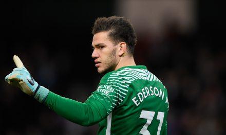 A distribuição de Ederson Moraes vs Tottenham. ⚽ Inacreditável! (video)