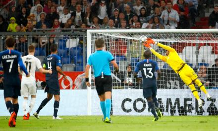 A GIGANTE exibição de Areola vs Alemanha na estreia da Liga das Nações da campeã mundial França (VIDEO)