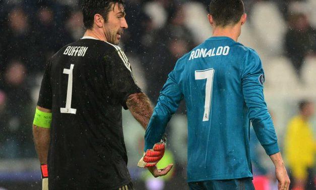 Buffon regressa à Juventus, um ano depois, onde encontra… Ronaldo!