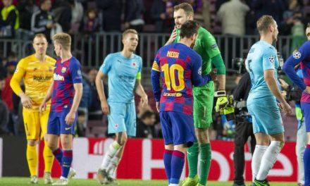 O que Kolar (Slavia Praga) fez para anular o Barcelona e que mereceu elogios de Ter-Stegen! (VIDEO)