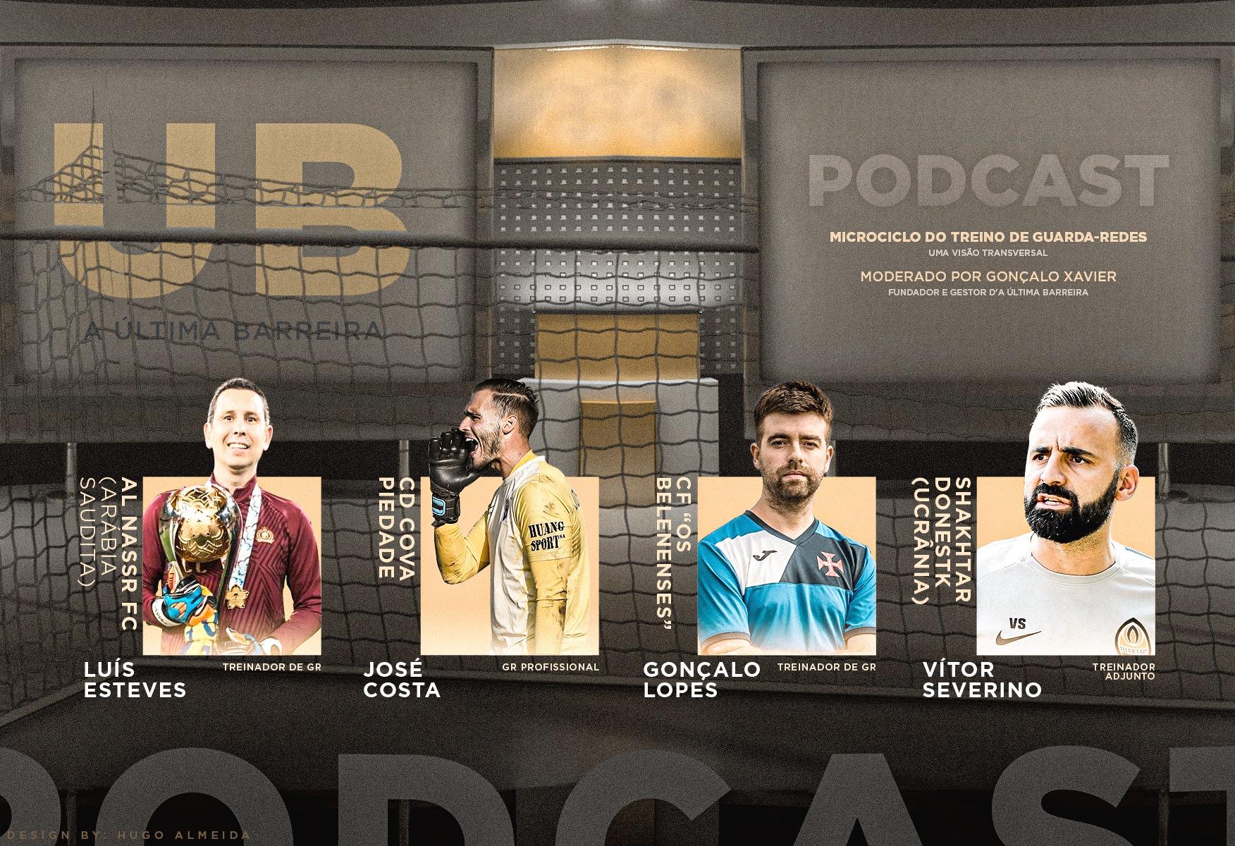 """8# Podcast A Última Barreira (Mesa Redonda): """"O microciclo do treino de guarda-redes – Visão transversal"""""""