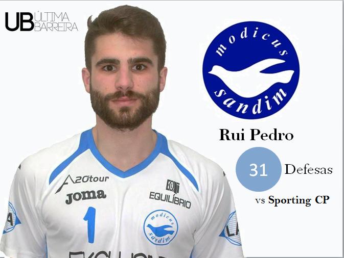 (Futsal) Rui Pedro passa as 30 defesas contra o Sporting!