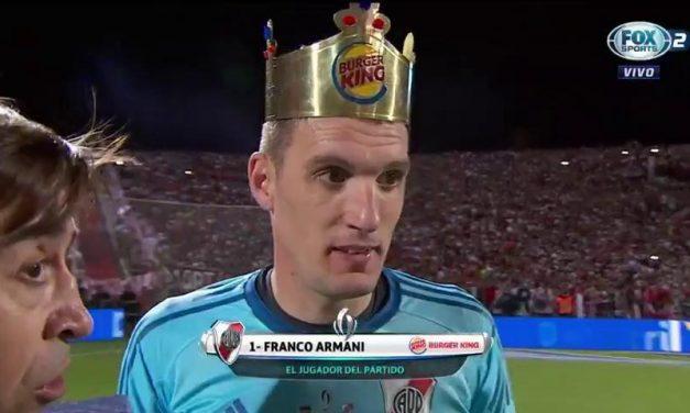 Franco Armani: O Rei (coroado) da Supercopa Argentina! (video)