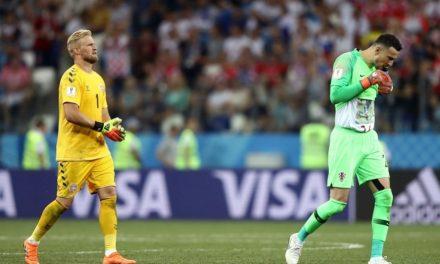 Neste jogo, os heróis foram os guardiões… 6 penaltis defendidos entre Kasper e Subasic! (video)